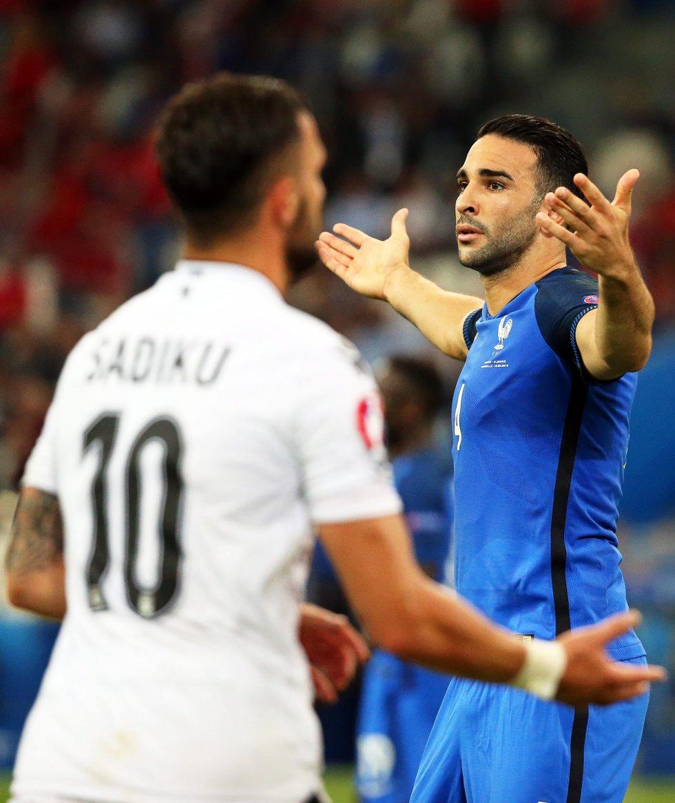 Rami durante el compromiso ante Albania por el Grupo A del certamen