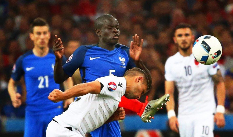 El francés Kanté durante el partido entre Francia y Albania por la Eurocopa