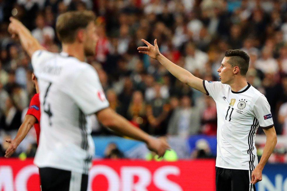 Alemania tuvo un 64% de posición de pelota.
