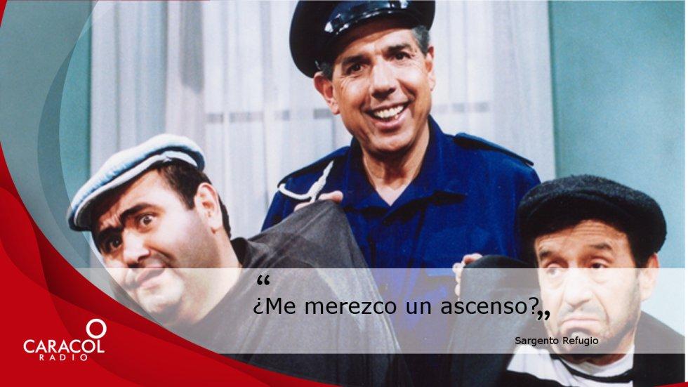 """""""¿Me merezco un ascenso?"""", la frase más característica del policía bonachón interpretado por Aguirre en Chespirito."""