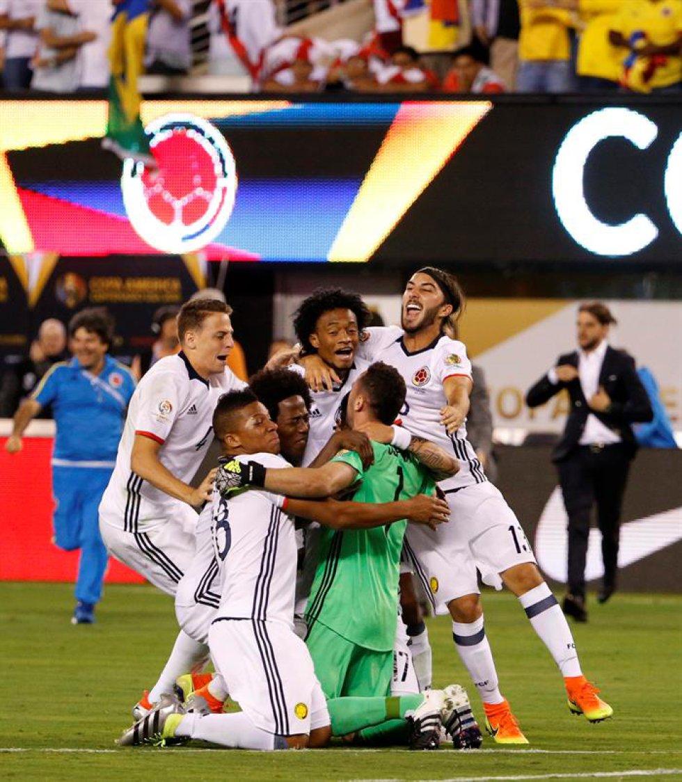 Colombia logró el paso a semifinales tras un reñido partido en el MetLife de New Jersey.