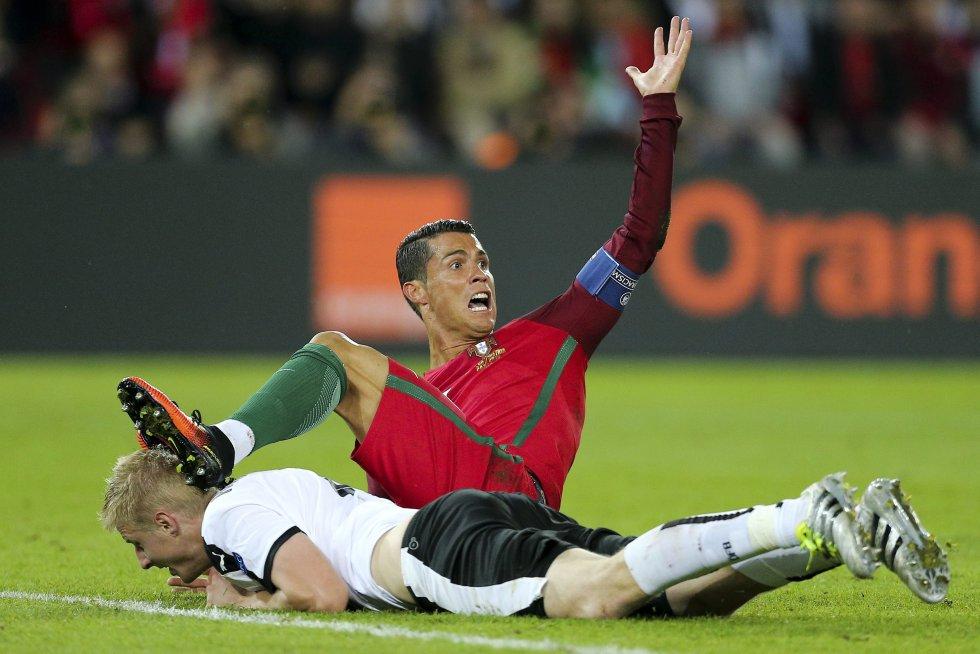 La falta en el área sobre Cristiano Ronaldo