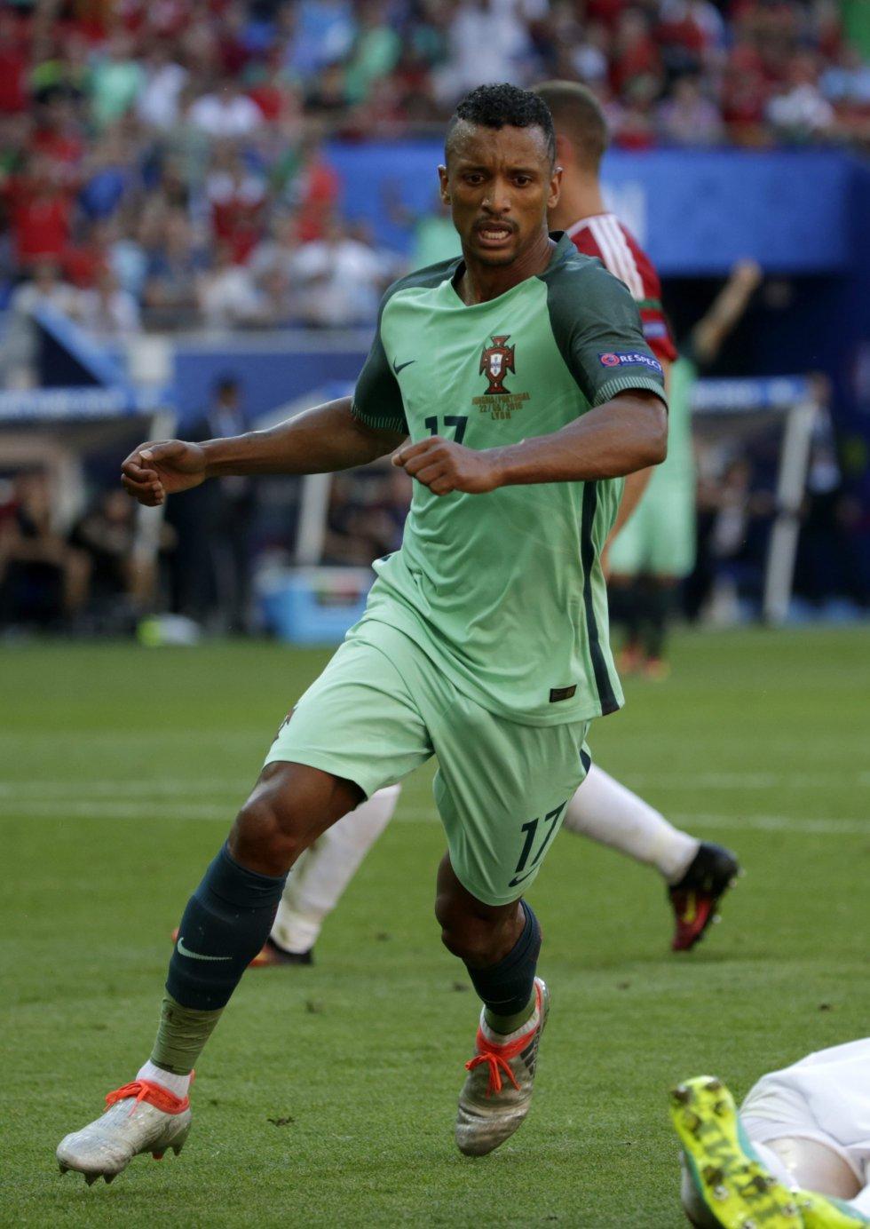 Nani anotó el primer tanto de Portugal.