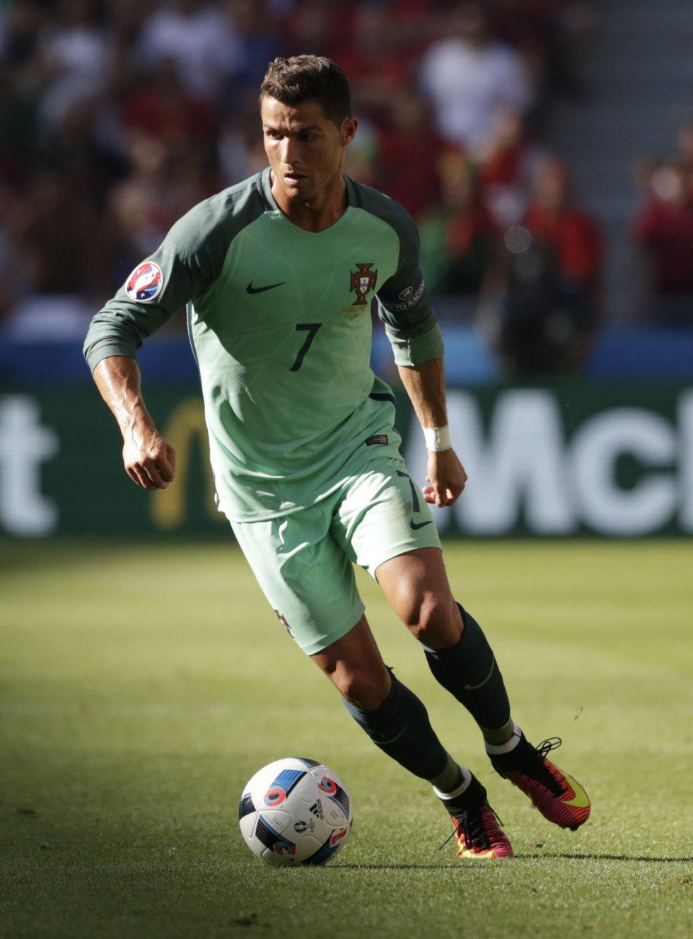 Cristiano marcó el 2-2, en el que fue su primer gol en el torneo.