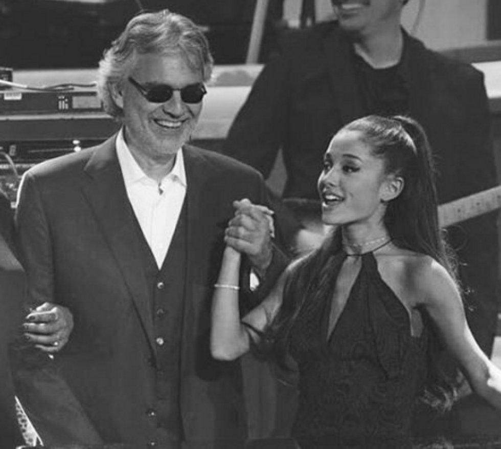 La artista ha colaborado con grandes figuras de la música como Andrea Bocelli y más recientemente con Christina Aguilera.