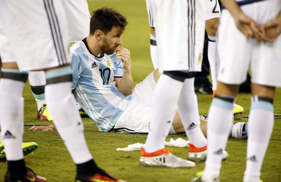 Messi tras perder la final de la Copa América.