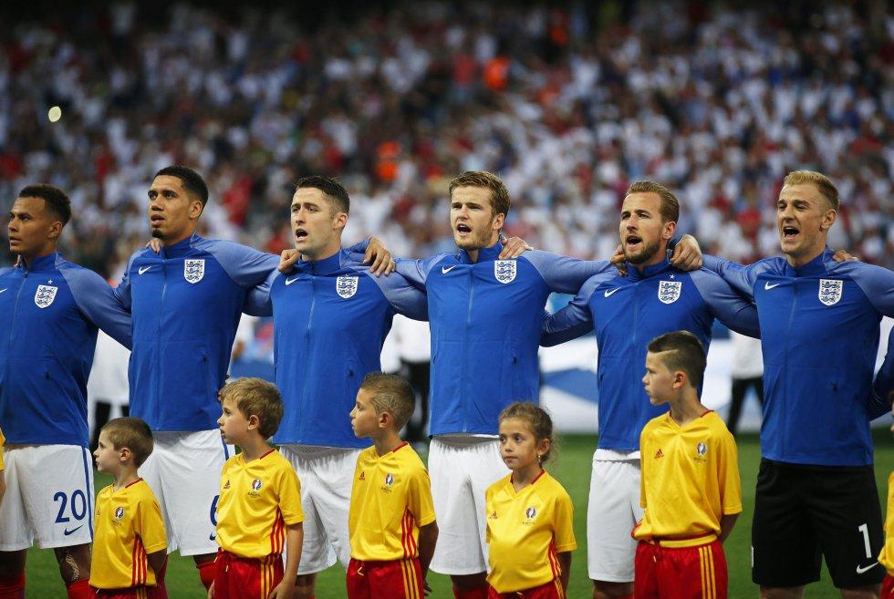 Inglaterra e Islanda jugaban los octavos de final en el estadio Allianz Riviera de Niza.
