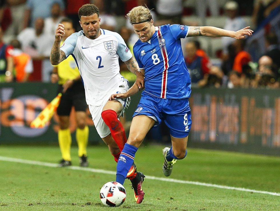 Islandia solo tuvo un 37% de posesión de balón.