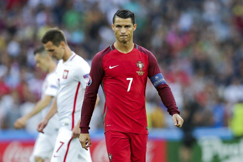 Cristiano Ronaldo durante el partido entre Polonia y Portugal