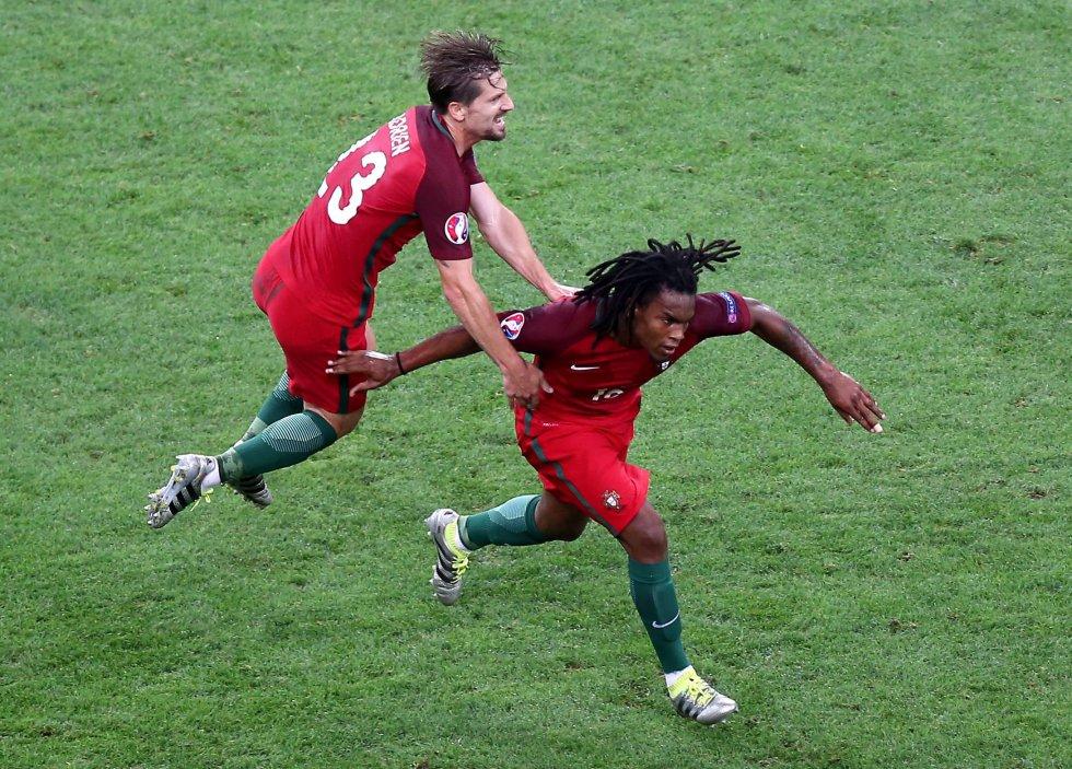 Renato Sanches el autor del gol del empate para Portugal