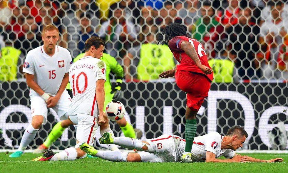 El gol anotado por Renato Sanches para el empate de Portugal