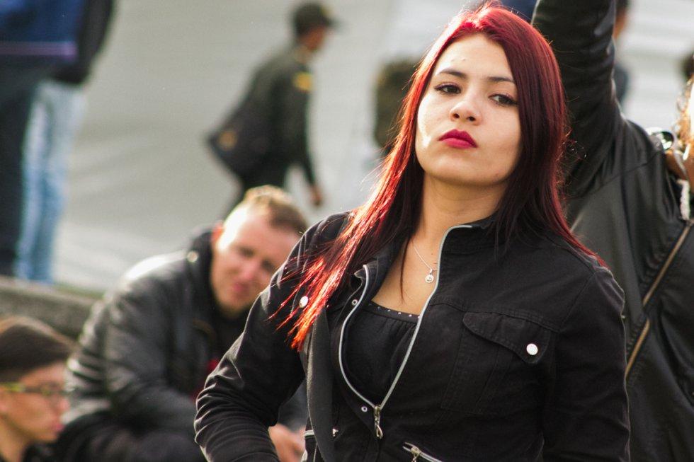 Metaleras, punkeras, extranjeras, con el pelo de todos los colores y varios estilos pero con un elemento común: el gusto por la música.