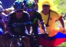 Video: Chris Froome golpea a un hincha colombiano en el Tour de Francia