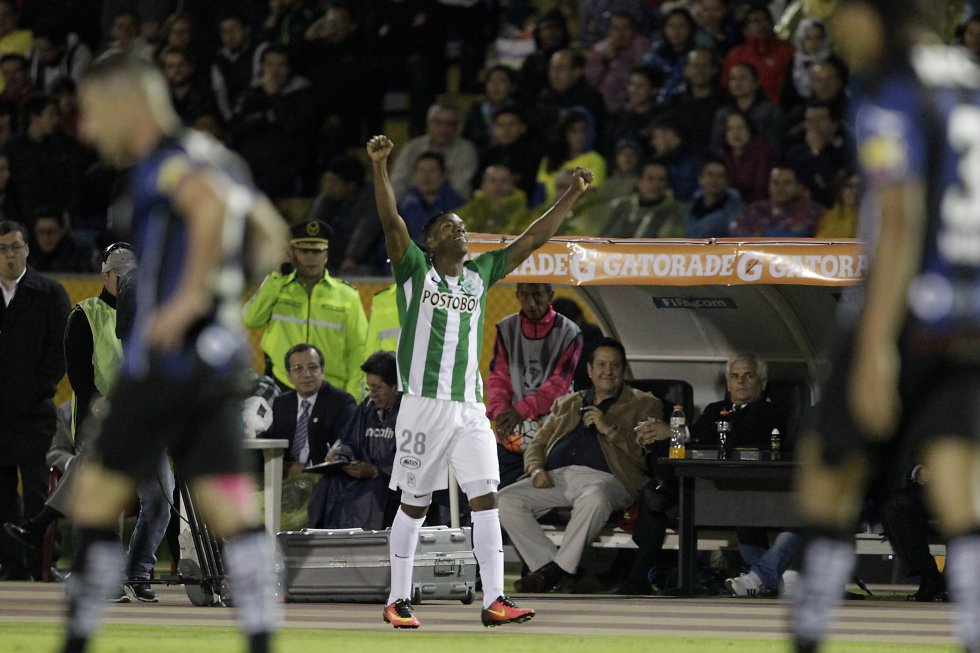 Berrío ha marcado 5 goles durante todas sus participaciones en la Copa Libertadores.
