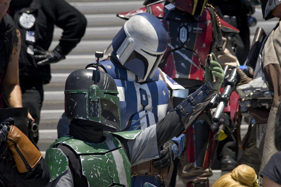 Personajes de Star Wars se tomó la reciente versión de la Comic Con llevada a cabo en San Diego California.