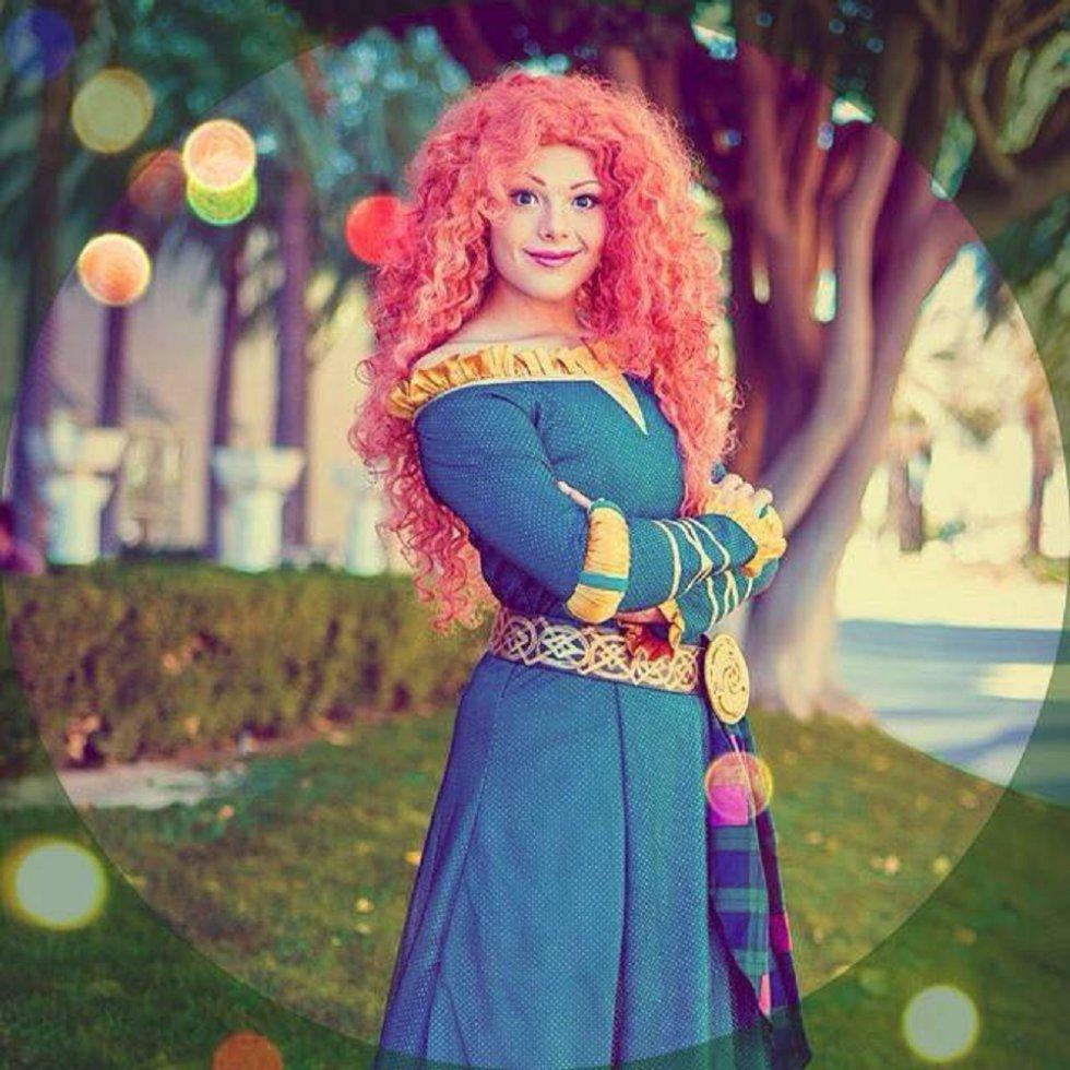 La princesa Rapunzel de la película Enredados.
