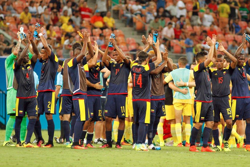 Los jugadores de Colombia agradecieron a la hinchada el acompañamiento en Manaos.