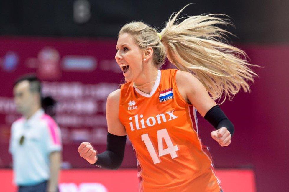 Voleibol femenino Río 2016: [Fotos] Laura Dijkema, la atractiva voleibolista Holandesa de Río 2016
