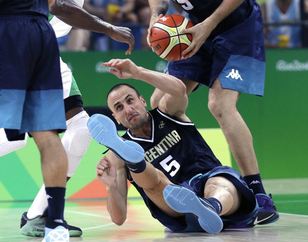 Manu Ginobili guió a Argentina en su triunfo ante Nigeria en baloncesto durante los Juegos Olímpicos de Río.