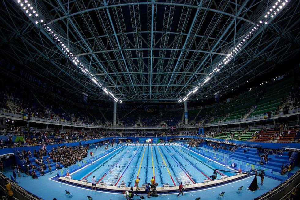 Este es el panorama que se vive en las competencias de natación en Río 2016.
