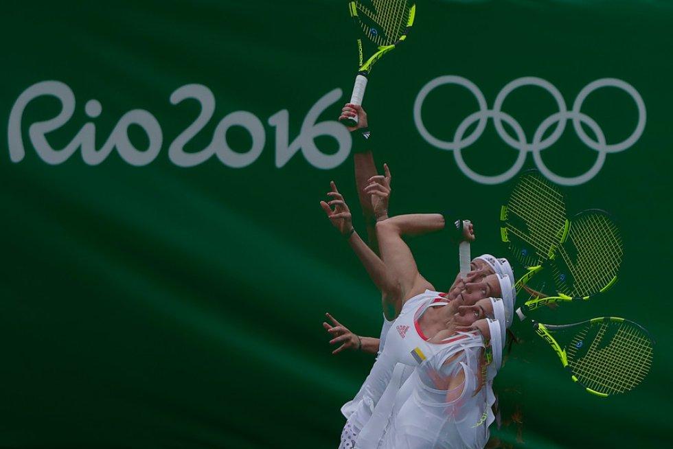 Mariana Duque se despidió de los Juegos Olímpicos de Río al ser eliminada por la alemana Angelique Kerber.