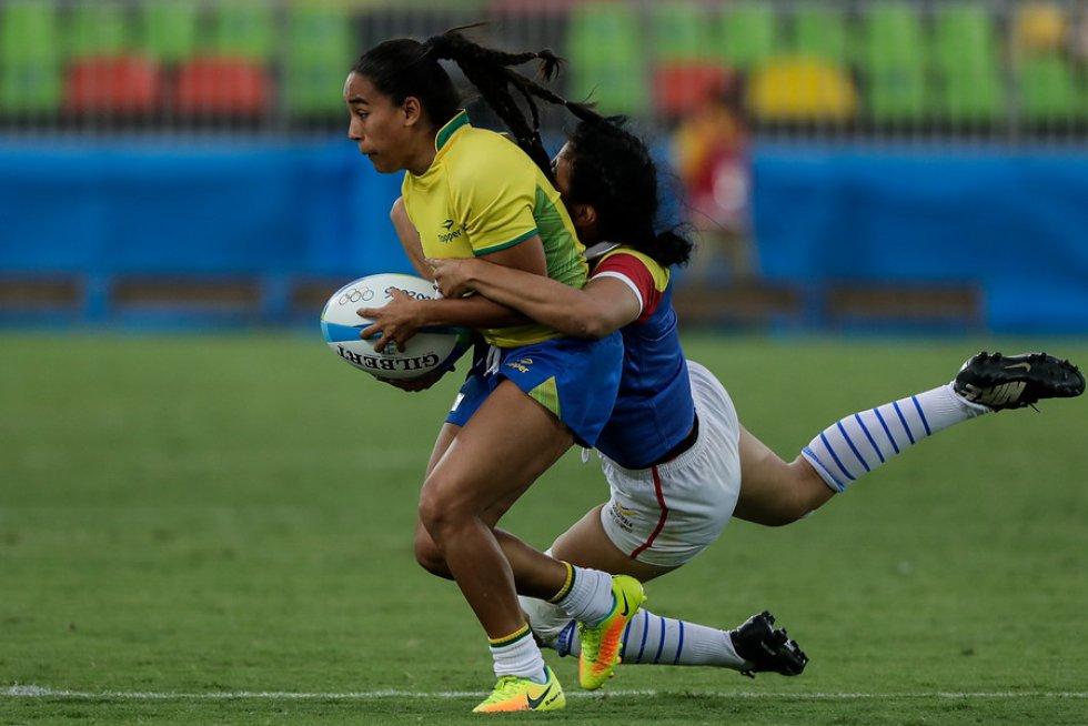 La selección colombiana de rugby se despidió de los Juegos Olímpicos al ser derrotadas por Brasil.