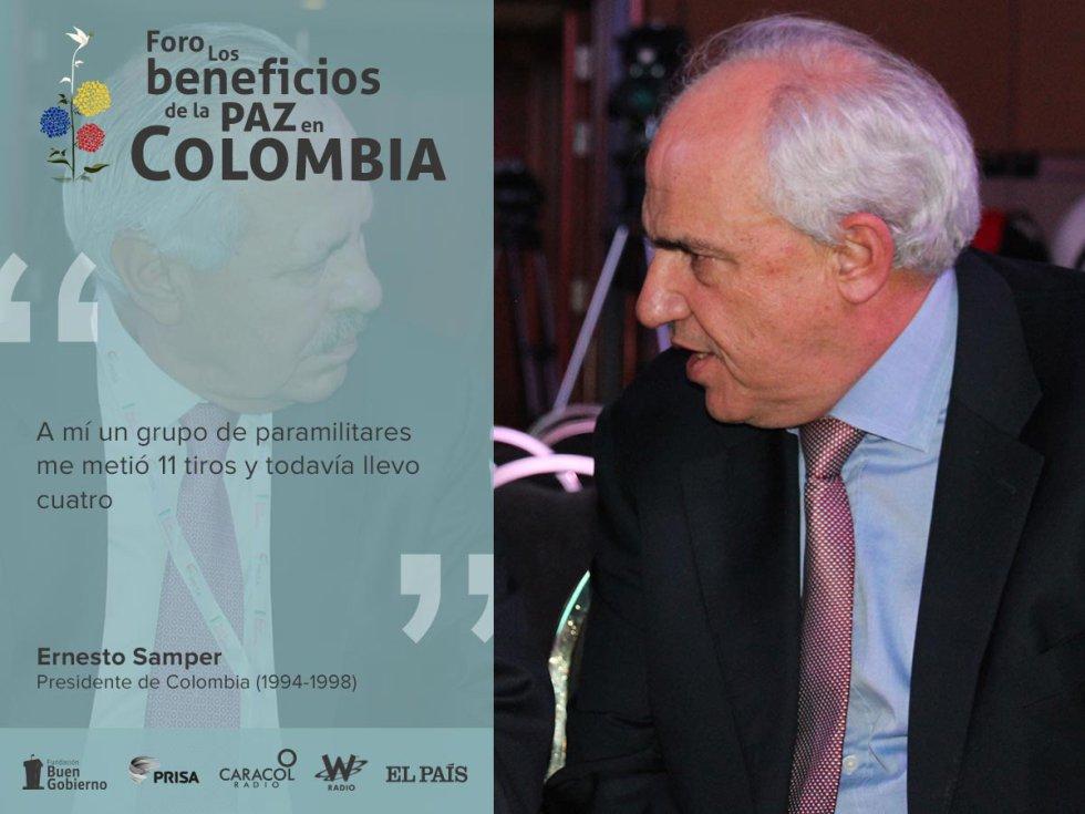 El exmandatario Samper señaló que todos los que han estado en la Casa de Nariño han buscado la paz y que ahora se debe arropar a Juan Manuel Santos.