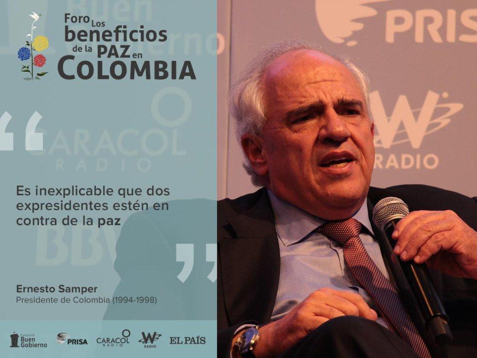 """Foro beneficios de la paz en Colombia: Ernesto Samper, Ricardo Lagos, Felipe González y Álvaro Arzú hablan del rol de Colombia en la región.: [Fotos] """"El papel de Colombia en América Latina"""""""