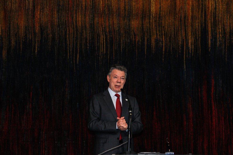 Santos dedicó unas palabras para elogiar a Caterine Ibargüen.