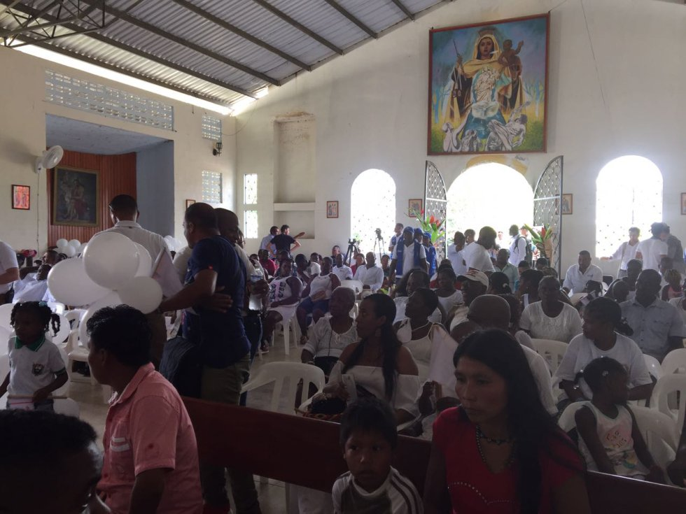 Bojayá el día en que lo visitó Santos: [Fotos] Bojayá el día en que lo visitó Santos, el premio Nobel de Paz