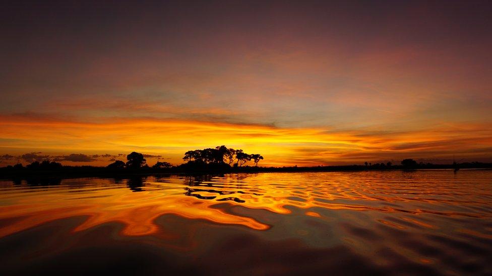Y desde el delta de Okavango nos llega esta imagen de un atardecer captada por Jana Pavlic.