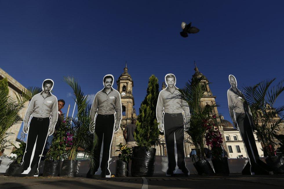 La plaza de Bolívar de Bogotá sirvió de marco para el emotivo homenaje