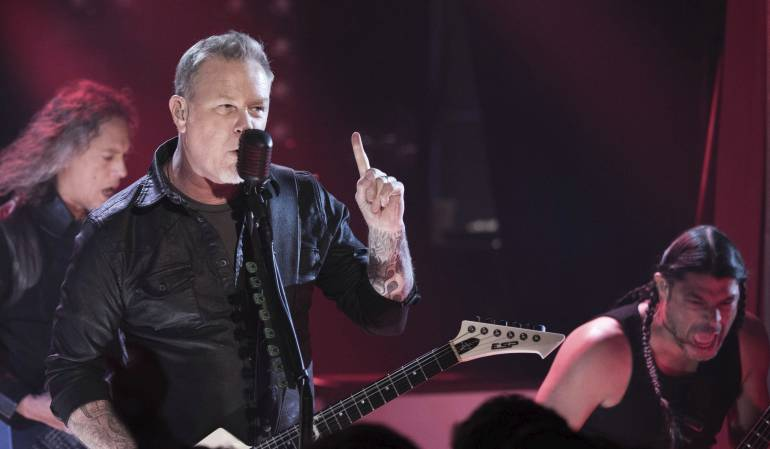 "'Enter Sandman', Metallica en ""The Tonight Show"" con Jimmy Fallon: [Video] Metallica interpreta ""Enter Sandman"" con instrumentos de juguete"