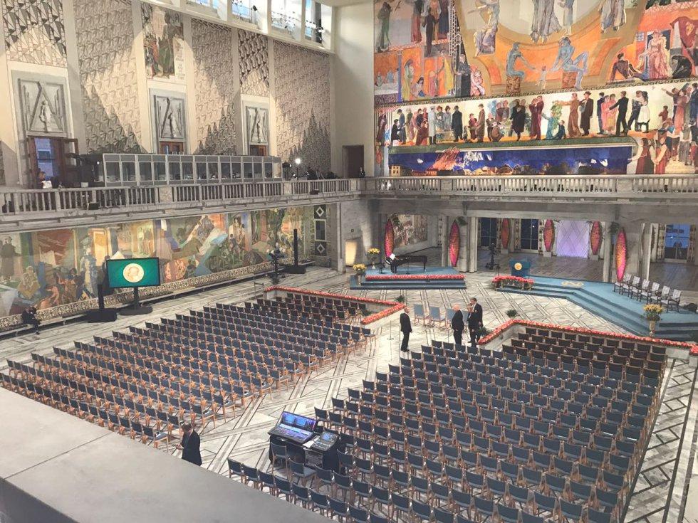 Santos será recibido luego en audiencia por los reyes Harald y Sonia en el Palacio Real.