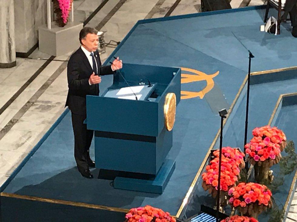 [Fotos] La ceremonia de entrega del Nobel de Paz a Juan Manuel Santos