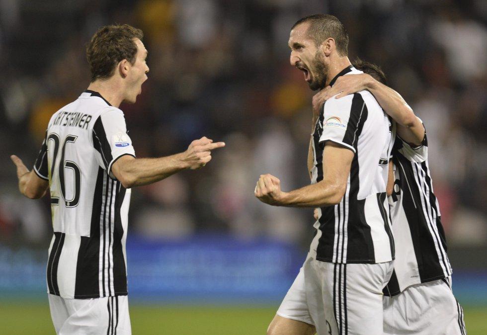 Chiellini fue el autor del primer gol del partido que le daba la ventaja a Juventus.