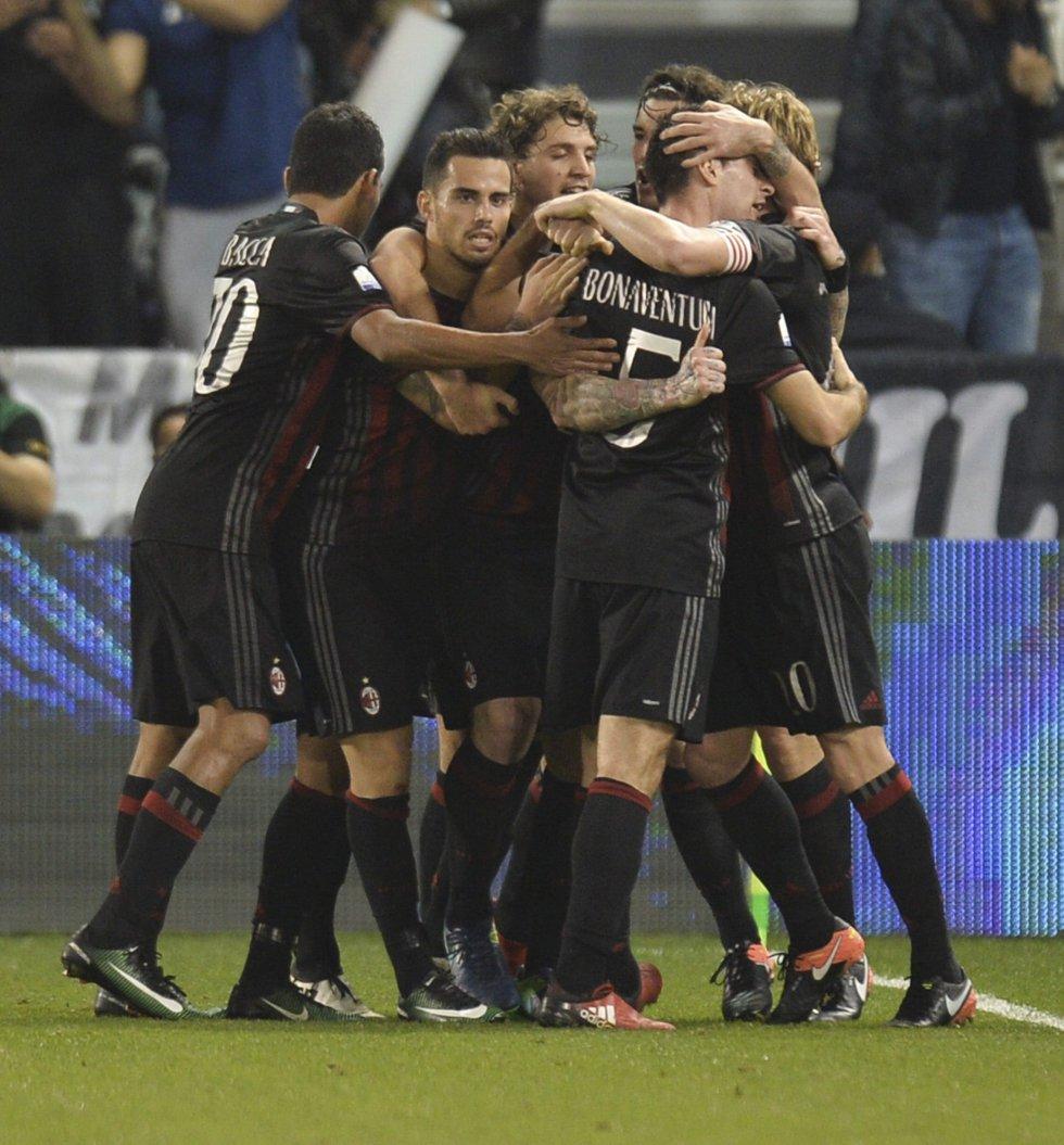 Bonaventura puso el empate para el Milan.