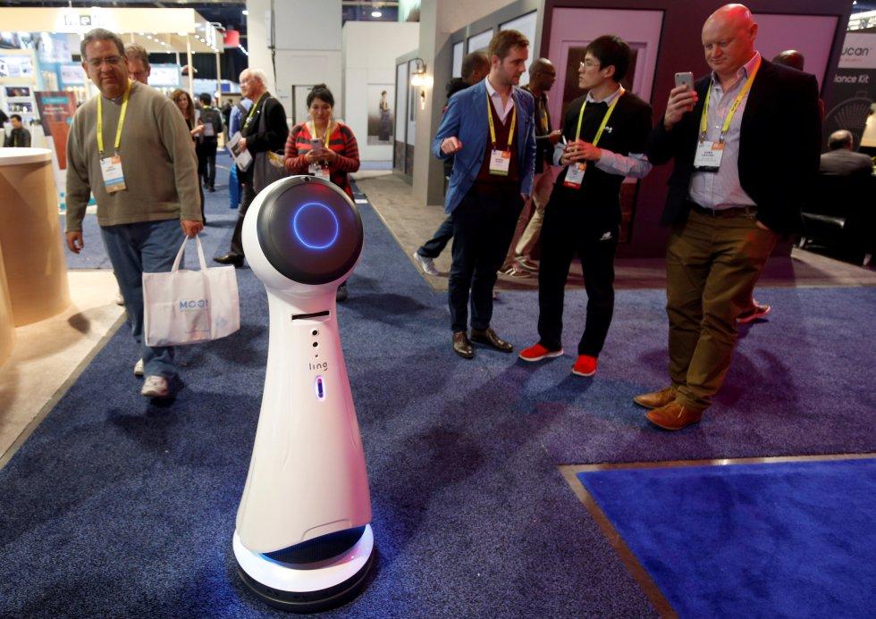 Wavebot, otro de los robots que hacen parte del CES 2017.