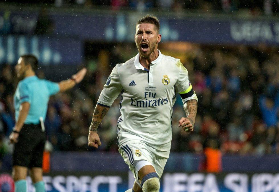 El español Sergio Ramos, defensa del Real Madrid.