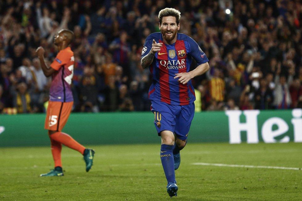 El argentino Lionel Messi, delantero de Barcelona.