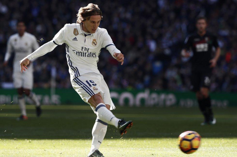 El croata Luka Modric, volante de Real Madrid.