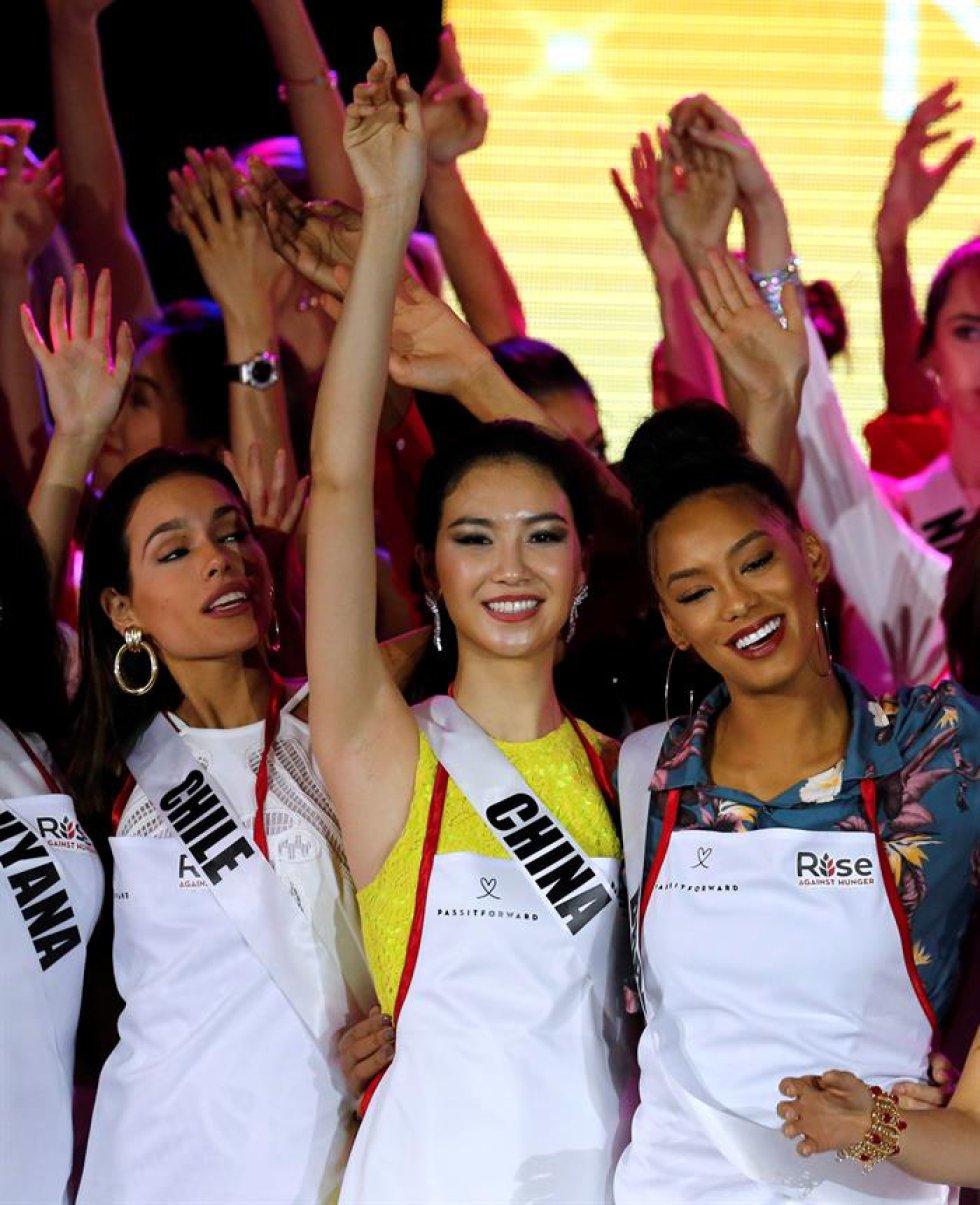 Para los más necesitados en un evento celebrado en el marco de la elección de Miss Universo