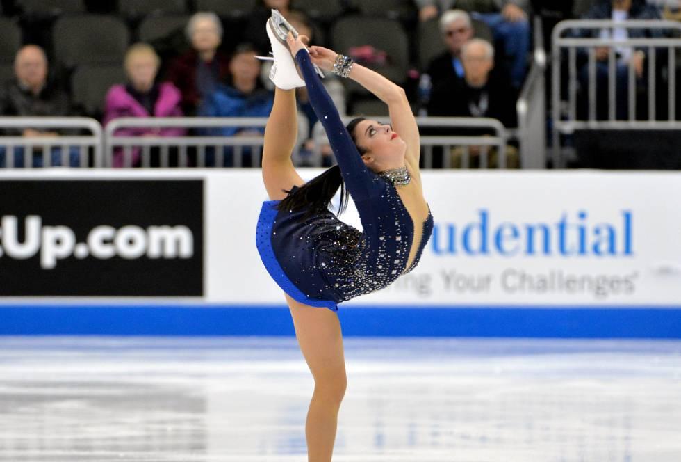 Ashley Wagner durante el campeonato durante el Campeonato de Patinaje Artístico de de Estados Unidos en Sprint Center.