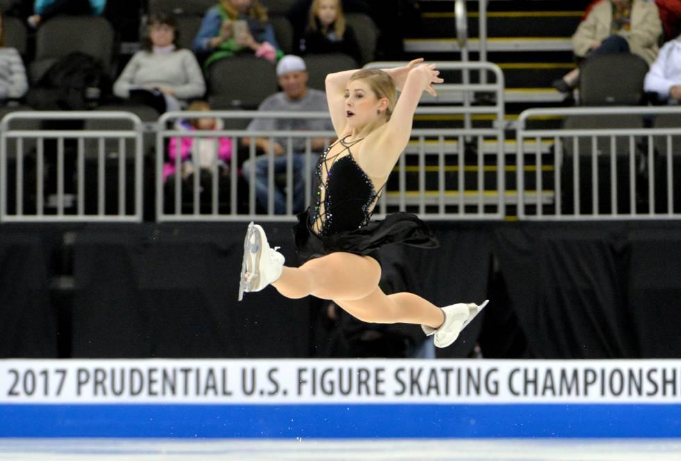Gracie Gold durante el campeonato durante el Campeonato de Patinaje Artístico de de Estados Unidos en Sprint Center.