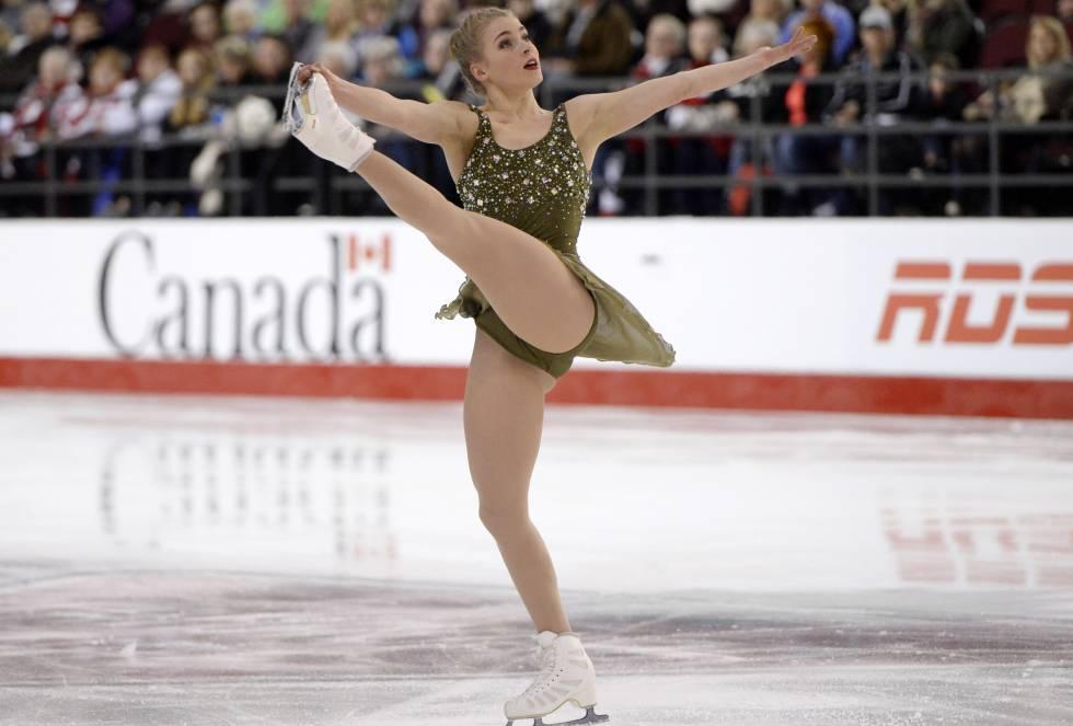 Jane Gray se presenta durante el Campeonato Nacional Canadiense de Patinaje Artístico en Canadá.
