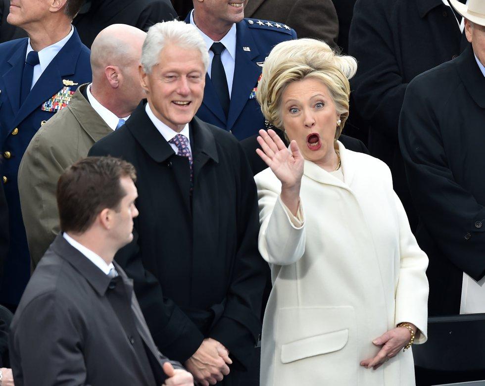 Hillary Clinton en la ceremonia de posesión de Donald Trump como nuevo presidente de Estados Unidos.