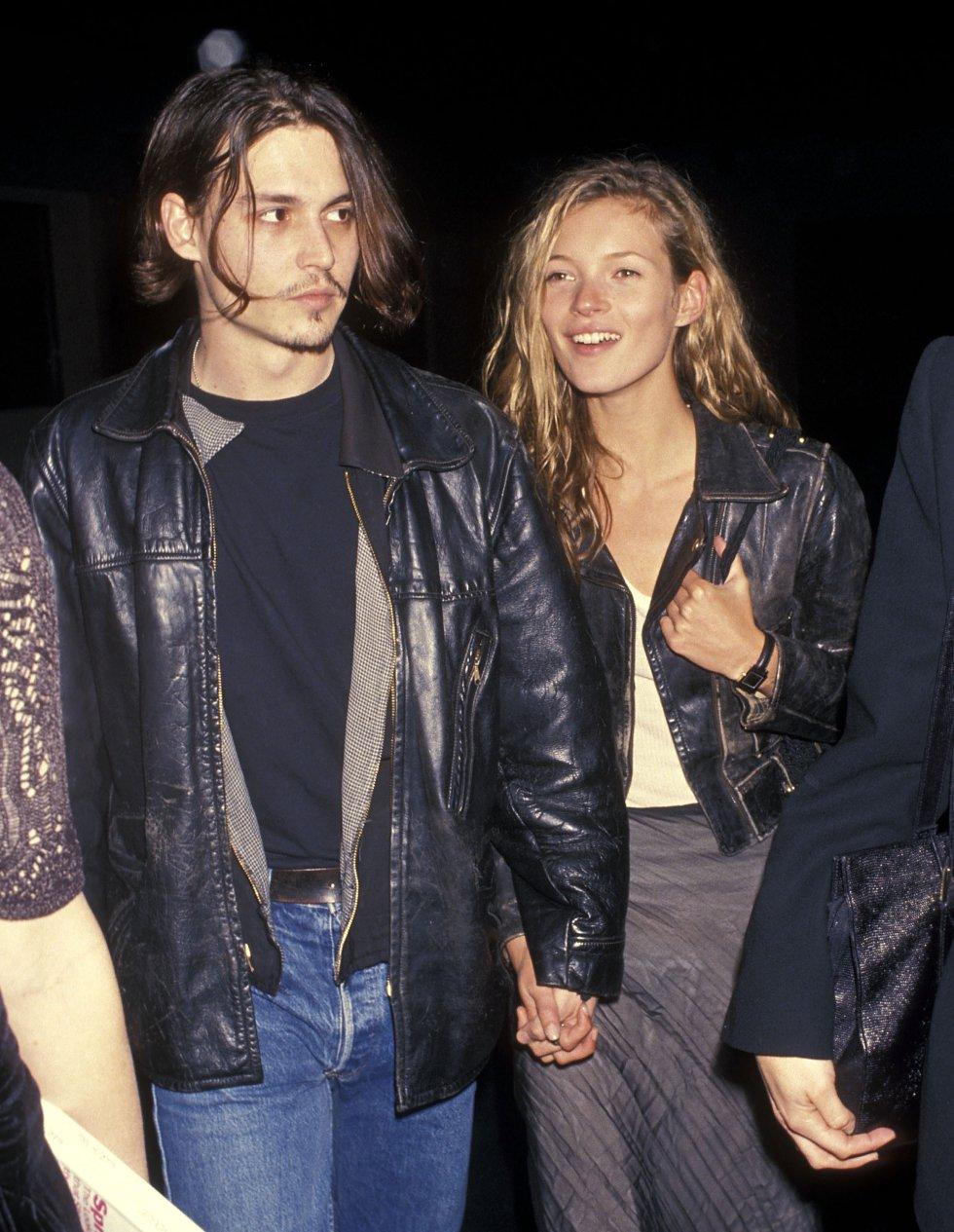 Johnny tuvo una relación de cuatro años con la modelo Katy Moss.