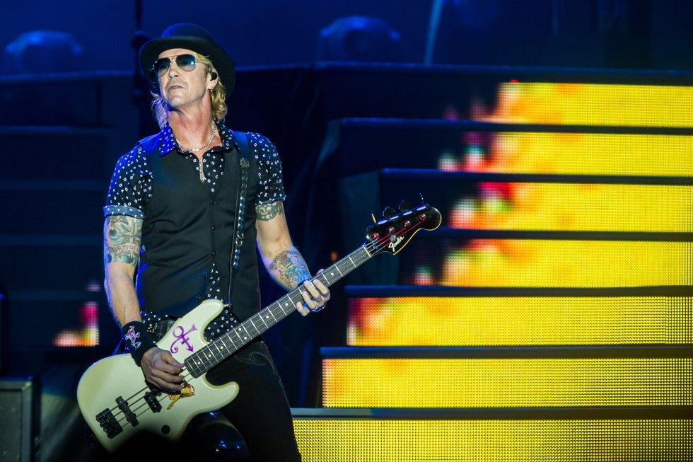 """El bajista Duff McKagan, uno de los miembros originales de la agrupación que regresó para la gira mundial """"Not in This Lifetime..."""""""