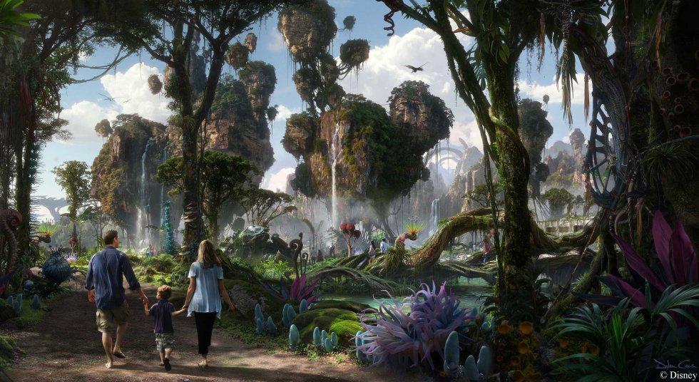 """""""Flight of Passage"""", será otro de los segmentos en donde los visitantes verán Pandora mientras que viajan en una Banshee(criatura voladora)."""