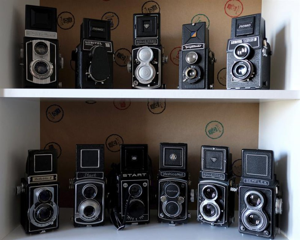"""Un grupo de aficionados por las fotos crearon este lugar y una fundación llamada """"Foto Café""""."""